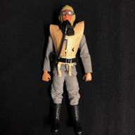 ACTION MAN - LUFTWAFFE PILOT PILOT - BROWN FLOCKED EAGLE EYE FIGURE